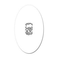 Damask Kettlebell 20x12 Oval Wall Decal
