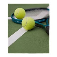 Tennis equipment Throw Blanket