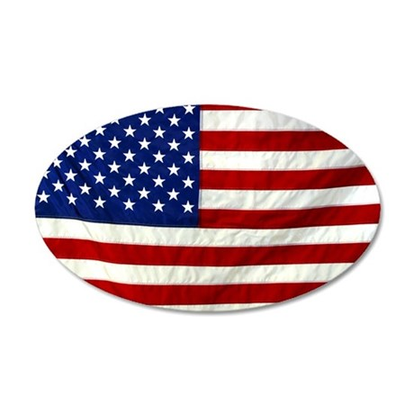 flag 35x21 Oval Wall Decal