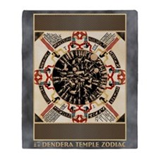 Dendera Round Zodiac Throw Blanket