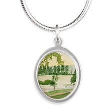 # 6 ORN R copy Silver Oval Necklace