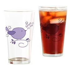 tweet me birdy Drinking Glass