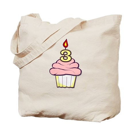 3rd Birthday Cupcake (girl) Tote Bag
