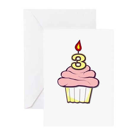 3rd Birthday Cupcake (girl) party invitations (10)
