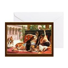 Cleopatra Testing Poisons Greeting Cards (Package