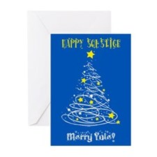 Solstice Card Blu Greeting Cards
