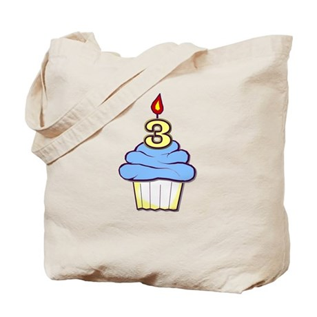 3rd Birthday Cupcake (boy) Tote Bag
