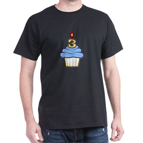 3rd Birthday Cupcake (boy) Dark T-Shirt