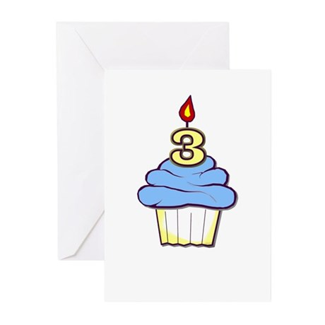 3rd Birthday Cupcake (boy) Memory Cards (10)
