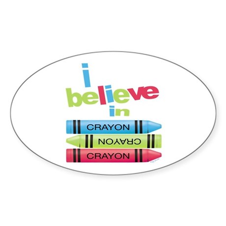 I believe in colors! Oval Sticker