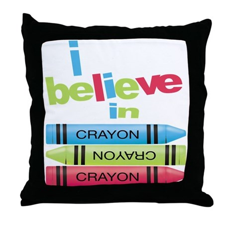 I believe in colors! Throw Pillow