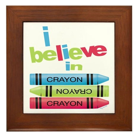 I believe in colors! Framed Tile