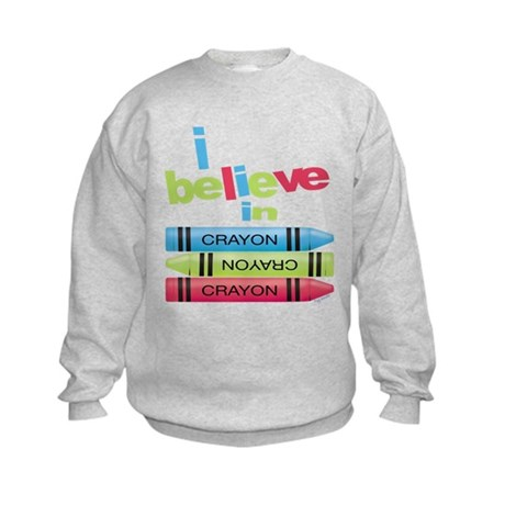 I believe in colors! Kids Sweatshirt