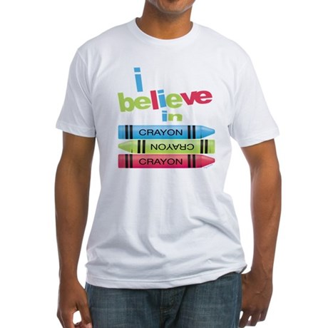 I believe in colors! Fitted T-Shirt