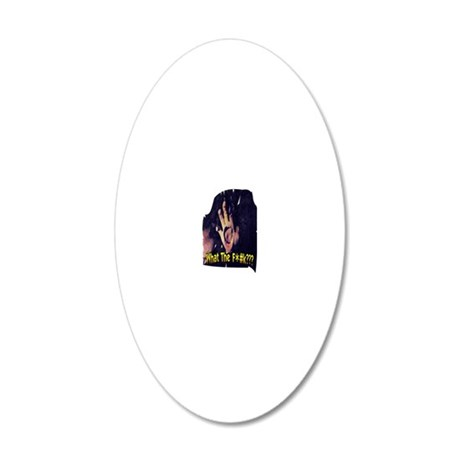 WTF 20x12 Oval Wall Decal