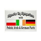 Polish-Irish-German Rectangle Magnet
