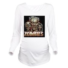 zombies_shower Long Sleeve Maternity T-Shirt