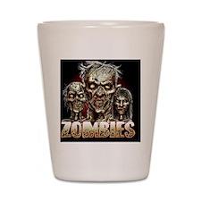 zombies_shower Shot Glass