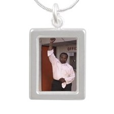 Derrick T.Tuggle Lonely  Silver Portrait Necklace