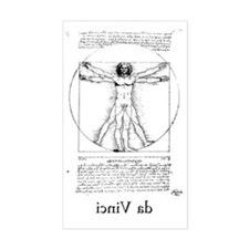 Vitruvian Man Decal