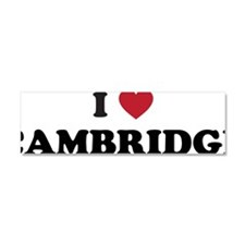 I Love Cambridge Mass Car Magnet 10 x 3