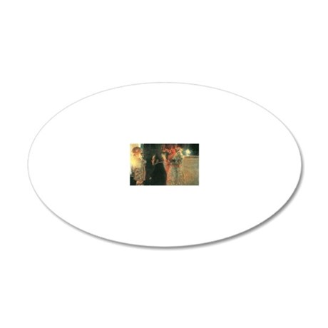 schubert-at-the-piano-ii Sch 20x12 Oval Wall Decal