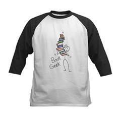 Book Geek Kids Baseball Jersey
