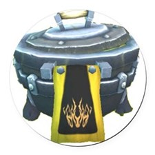 Guild Cauldron Round Car Magnet