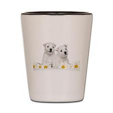 Westie Puppies Shot Glass