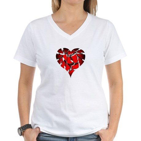 Broken Heart Women's V-Neck T-Shirt