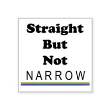 "Straight But Not Narrow Square Sticker 3"" x 3"""