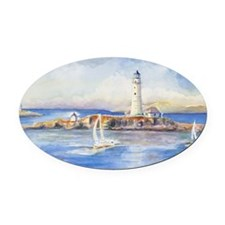 Boston Light 3 Oval Car Magnet