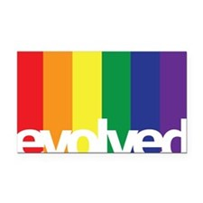 Evolved LGBT Rectangle Car Magnet