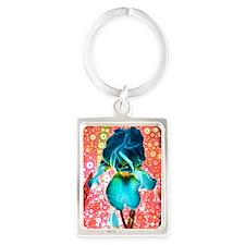 Berry Iris Portrait Keychain