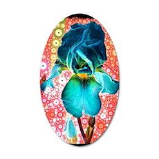 Berry Iris 35x21 Oval Wall Decal