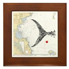 Tuna tail on mass bay Framed Tile