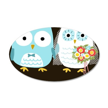 owlskindle 35x21 Oval Wall Decal