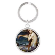 John William Waterhouse Mermaid Round Keychain