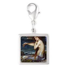John William Waterhouse Merma Silver Square Charm