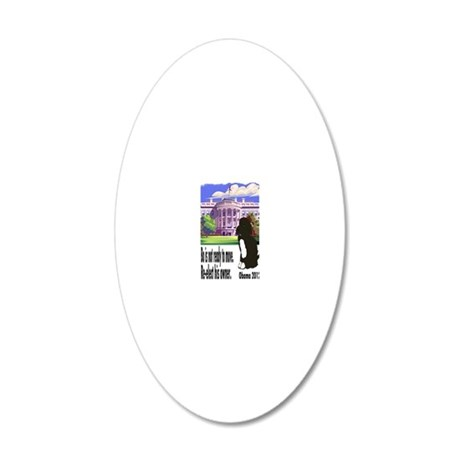 Bo Is Not Ready To Move 20x12 Oval Wall Decal