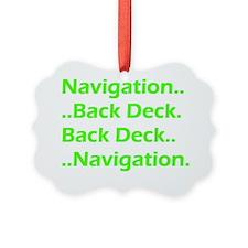 Nav Back Deck Green Ornament