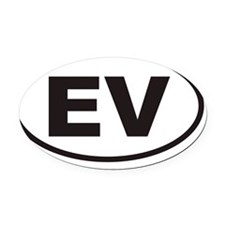 EVovals20123x5cp Oval Car Magnet