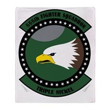 555th Fighter Squadron Throw Blanket