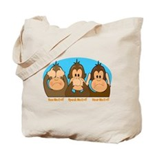 See,Speak,Hear No Evil Tote Bag