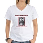 Homeland Security Geronimo Women's V-Neck T-Shirt
