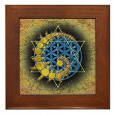 Divine Awakening  mini poster print Framed Tile