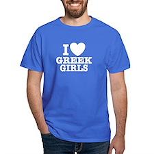I Love Greek Girls T-Shirt