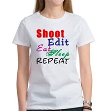Shoot Edit Eat Sleep Repeat Tee
