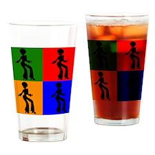 Disco Woman Pop Art Drinking Glass