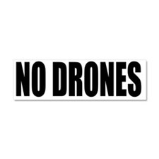 NO DRONES Car Magnet 10 x 3